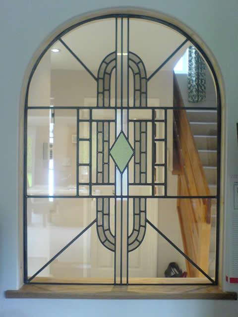 International style art deco images for Art deco glass windows