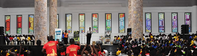 Stunning stained glass windows created for a Church in Ghana