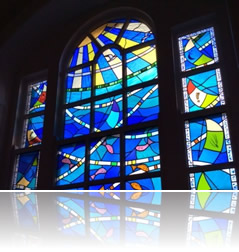 Stained glass church window maker