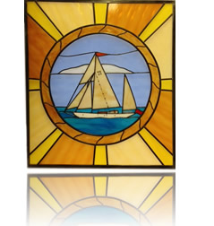 Custom and one-off stained glass panels